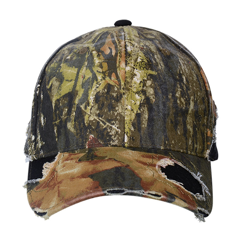 Camo Cap With Fray