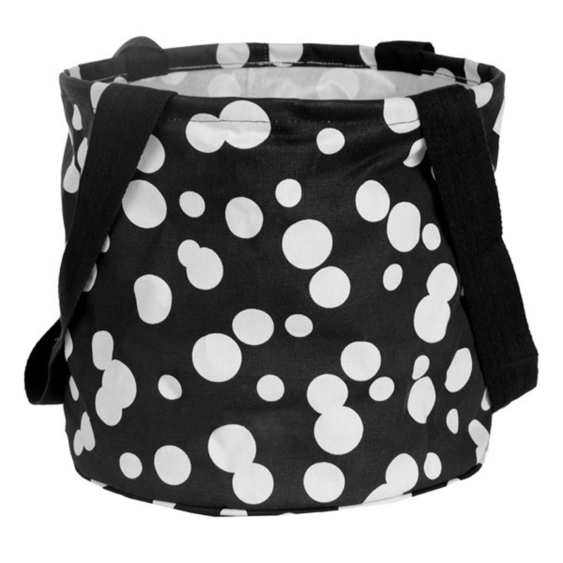 Large Printed Round Utility Tote