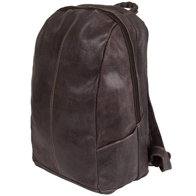 "Distressed Leather 17"" Laptop Backpack"