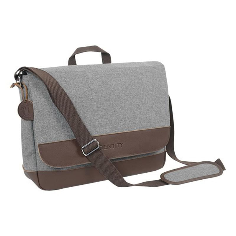 Leather Heathered Messenger Bag