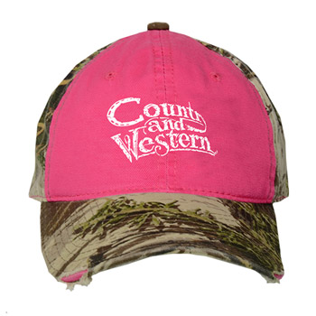 Ladies& 39; Frayed Camo Cap