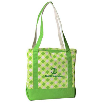 Printed Small Accent Boat Tote