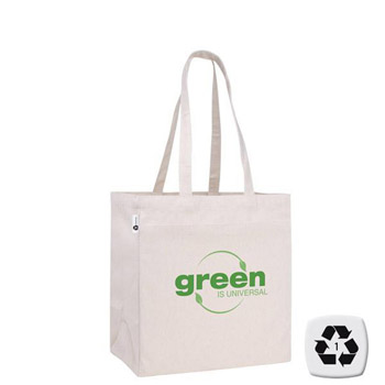 V Natural Recycled Cotton Tote
