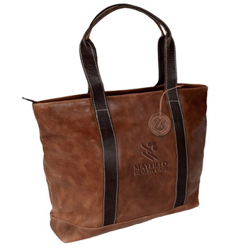Westbridge Two-Tone Leather Tote