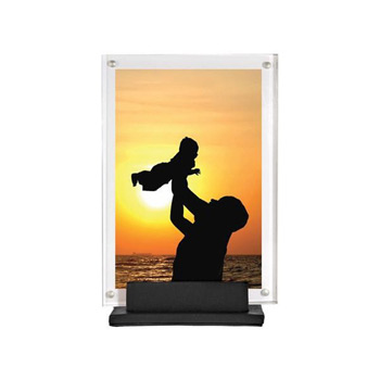 Acrylic And Leather Picture Frame