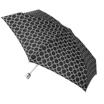 Totes   Mini Auto Open/Close Umbrella With Purse Case