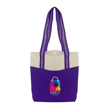 Color Accent Shopper Tote