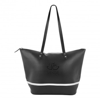 Iconic Metallic Accent Tote