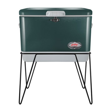 Coleman   54-QUART COOLER STAND WITH CLASSIC STEEL BELTED COOLER