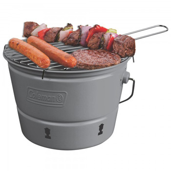 Coleman   Party Pail Charcoal Grill With Carrying Case