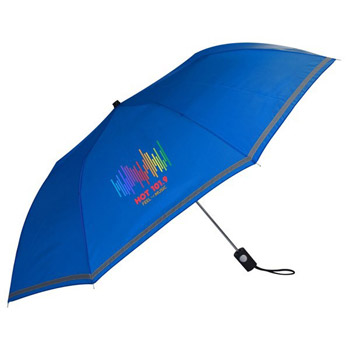 See Thru Reflective Auto Open Folding Umbrella